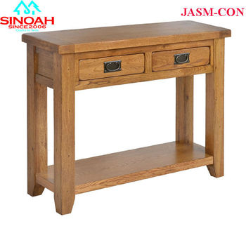 506 Range Jasmine Solid Oak 2 Drawer Console Table Hall Tables