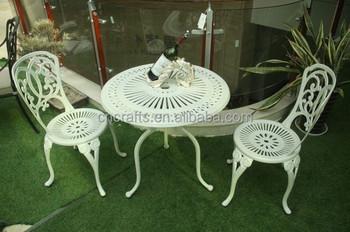 Blanc Bistro En Plein Air Patio Jardin En Fonte D\'aluminium/fer Meubles  (ld-042) - Buy Meubles De Patio En Fer Forgé Blanc,Mobilier D\'extérieur En  Fer ...