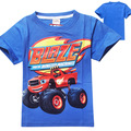 Blaze Monster Machines Clothing Children T Shirts Fit 2015 Summer Boys Kids Short Sleeve Tees Cotton
