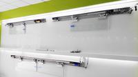 automatic sliding door locking system