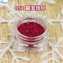 1/128(0.2mm) New Pure dark rose color Nail Art Glitter Powder Gloss Polish Glitter for Nail Beauty Hot Sale,50grams/lot #05