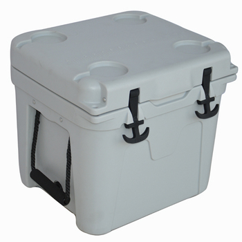 22L plastic rotomold ice cube white cooler box