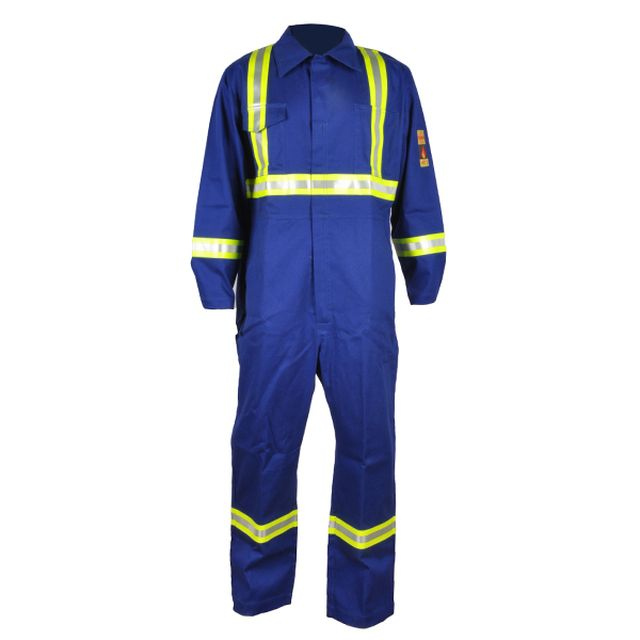 OEM NFPA 2112 Advanced Cotton Nylon FR Coverall with Reflective Tape - KingCare | KingCare.net