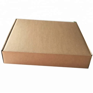 Logo printed brown kraft paper box card board packaging white corrugated box eco shipping box