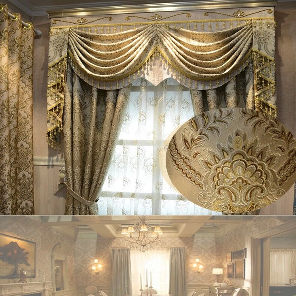 Hot Sale High Quality Polyester Chenille Fabric Round Window Curtain rideaux salon