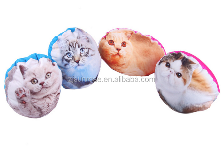 kitten printed plush cushion creative pillow