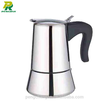 4 cup Italian high quality stainless steel espresso maker for family use