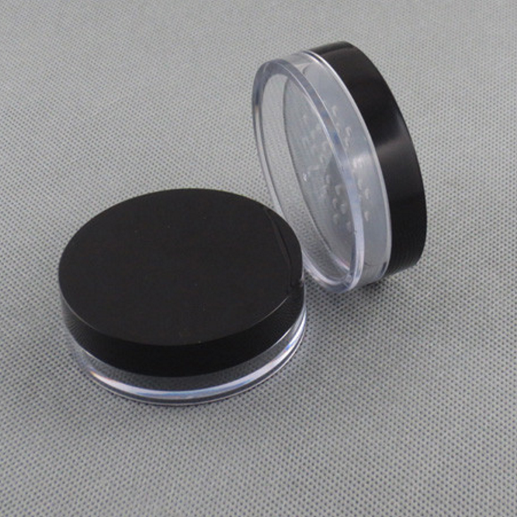 Cosmetic loose powder sifter jar plastic powder bottle with Puff