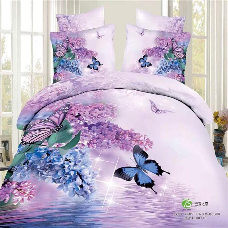 Light Purple And Blue Bedroom