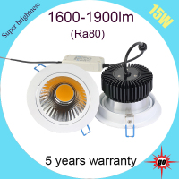 15W dimmable led downlight, High Quality LED Downlight withCREE Chip
