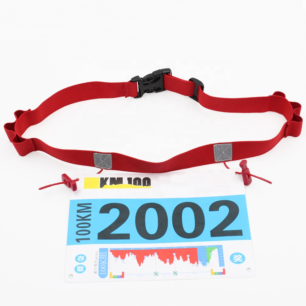 Cheap Customized Blankets Race Reflective Number Belt Triathlon With Gel Holders Easy Clasp