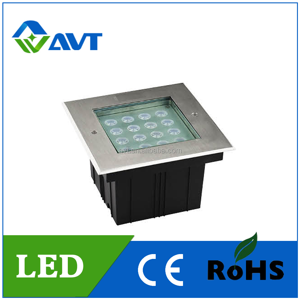Manufacturer LED RGB 32w 16w 9w 4w strainless steel rectangular Inground Light IP68 undergroud lamp