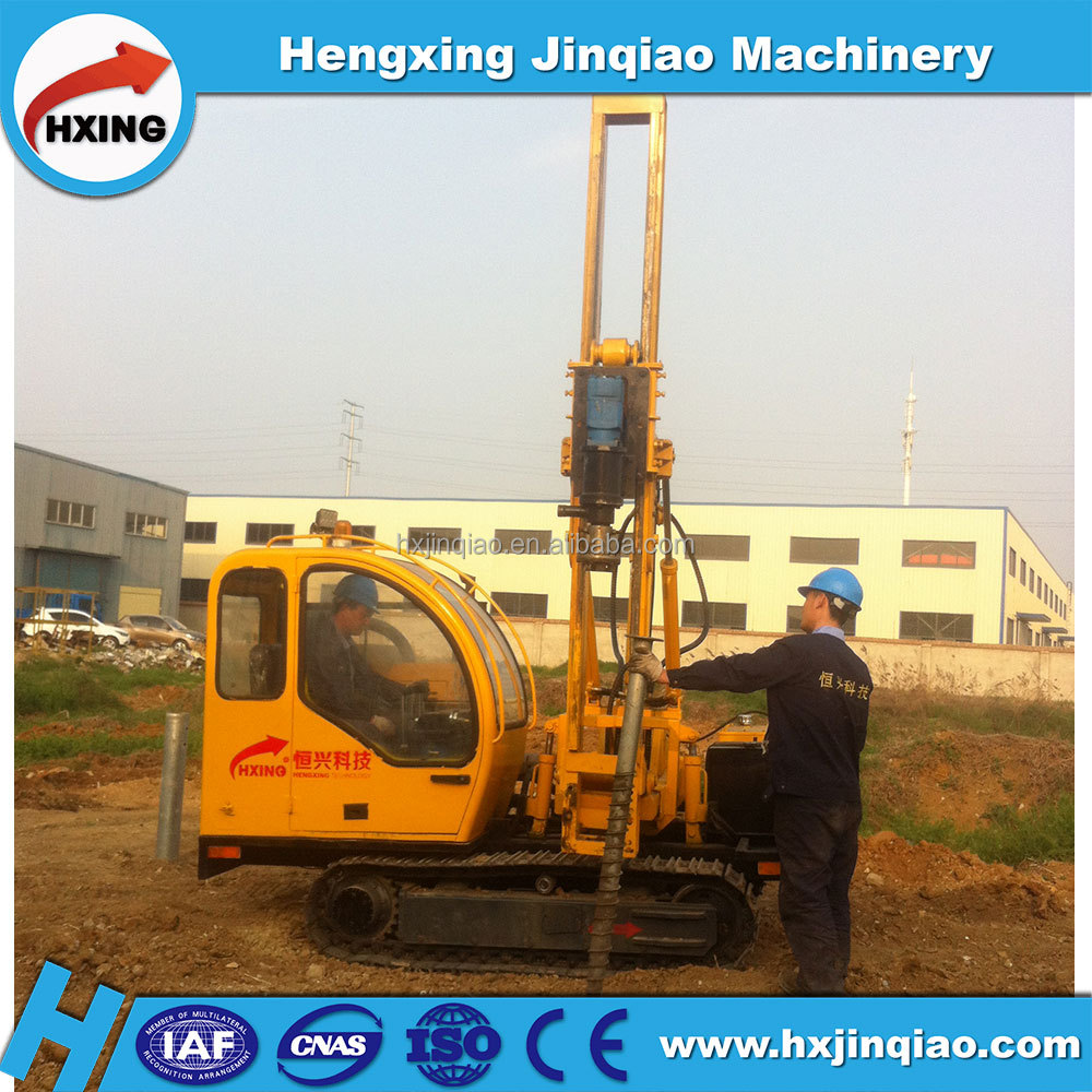High quality ground screw installation of Photovoltaic pile driver for solar panel laying