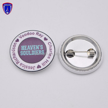 Wholesale High Quality Round Diy Metal Pin Button Badge With Safety Pin -  Buy Pin Button Badge,Tin Button Badge Maker,Tin Button Badge Maker Product