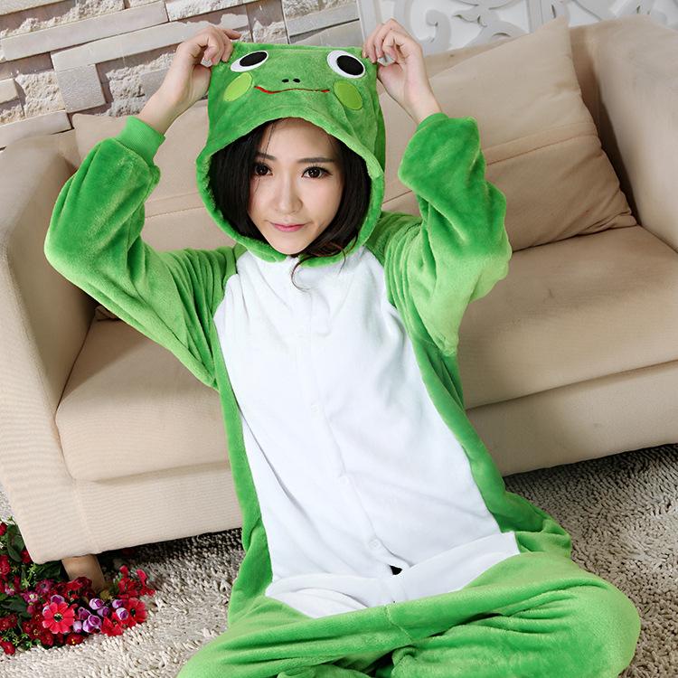 Flannel family animal pajamas one piece onsies onesies cosplay grenouille grenouillere frog pajama pijamas enteros de