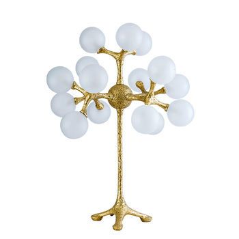 Art Decoration Milk White Ground Glass 15 Balls Nordic Modern Creative Bedside bedroom Led Table Lamp