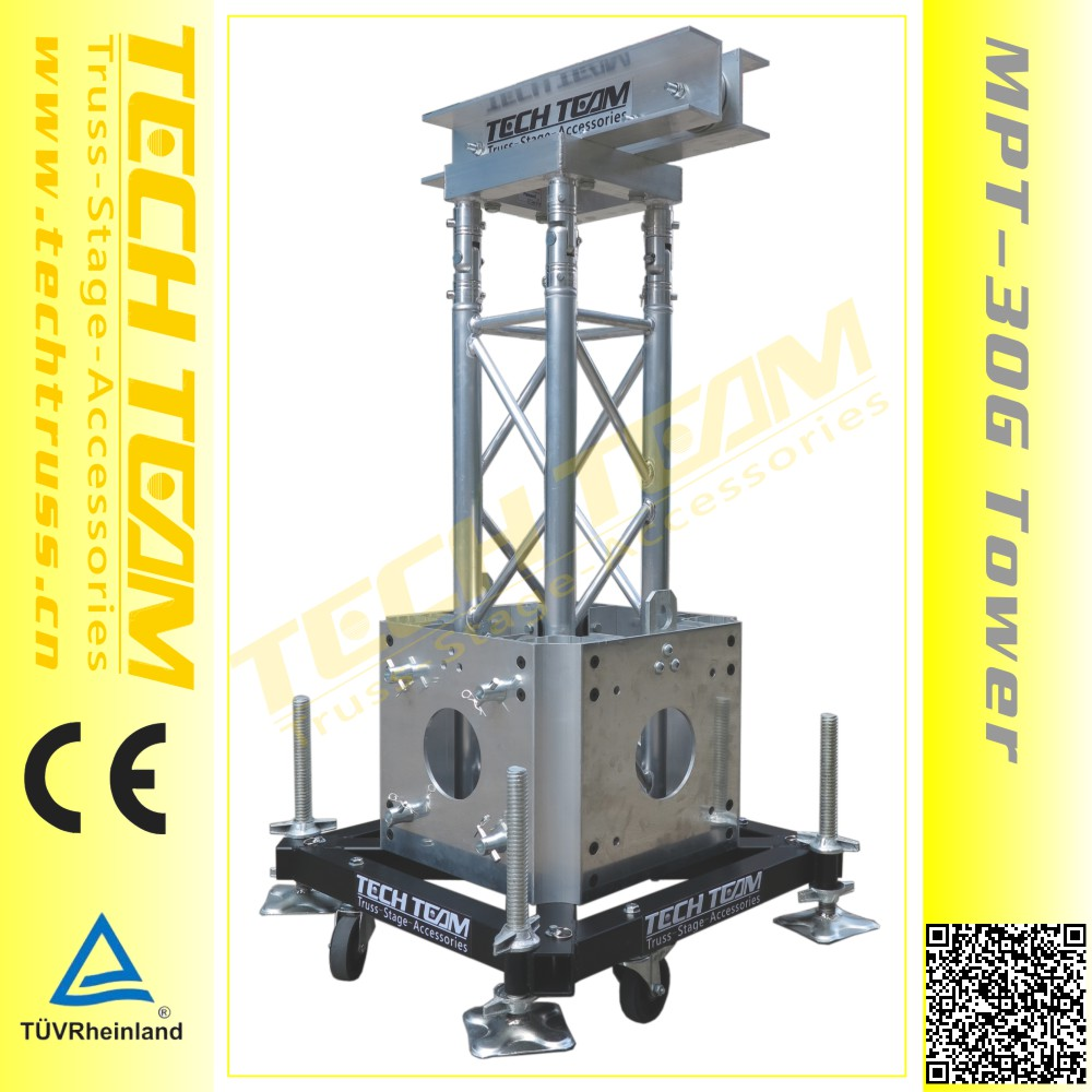 Mpt 30g top pulley aluminum truss tower use for ground for Cheap truss systems