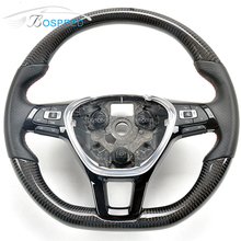 Bospeed customize Carbon Fiber wrapped Steering Wheel For VW Golf 7 GTI MK7 gti
