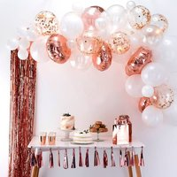 Vrise Baby Shower Backdrop Decor Rose Gold Balloon Arch Kit White Latex Balloon Wedding Party Garland Balloons