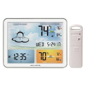 Strong Plastic Lcd Display Weather Station Clock