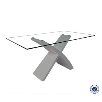Hebei Bazhou Future Furniture Modern Tempered Glass Top Dining Table And  Chairs Set