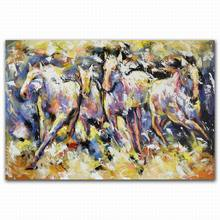 beautiful eight horses canvas oil painting