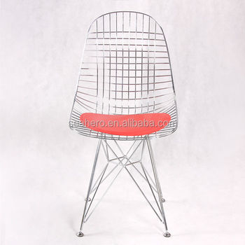 Style molded plastic side chair replica wire chair buy for Plastic side chair replica