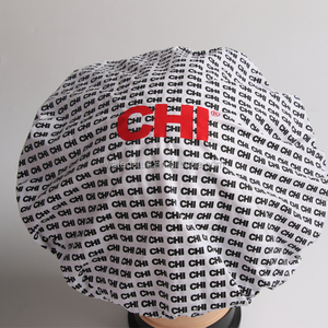 manufacture good quality white pvc+microfiber logo printing personalized shower cap