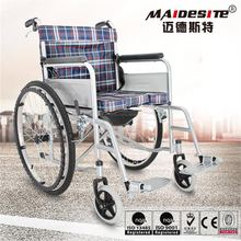 Alibaba handicapped used manual wheel chair with big wheels