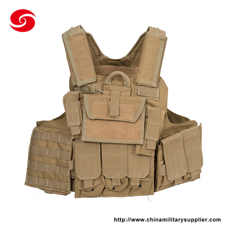 Army Combat Hunting Gear Multi Pocket Military Tactical Vest with Shoulder Armor