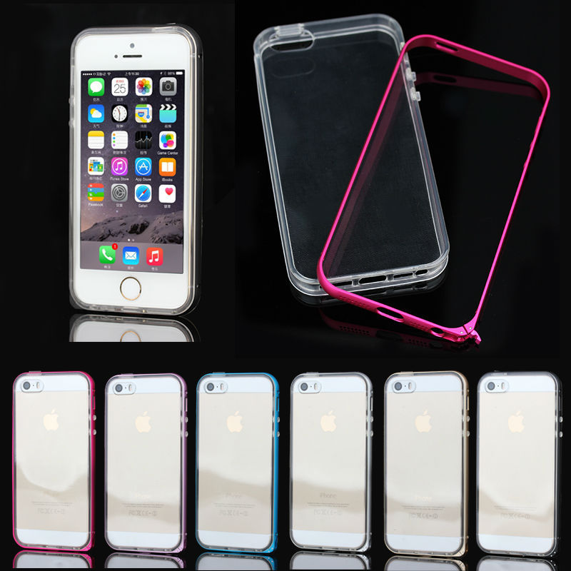 For iPhone5s TPU metal bumper case, new case for iphone5