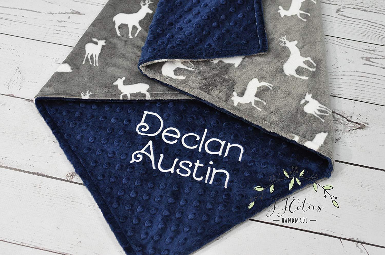 Personalized Woodland baby blanket-Personalized Deer minky baby blanket-Woodland baby blanket-Woodland nursery-Deer Nursery-Boy Girl Blanket