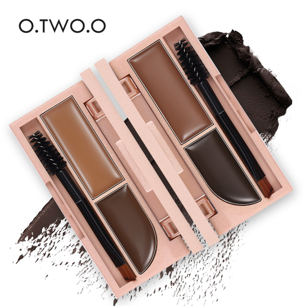O.TWO.O 2 Colors Long lasting Waterproof Eyebrow Gel with 1pc free of Charge Eyebrow Brush-3007