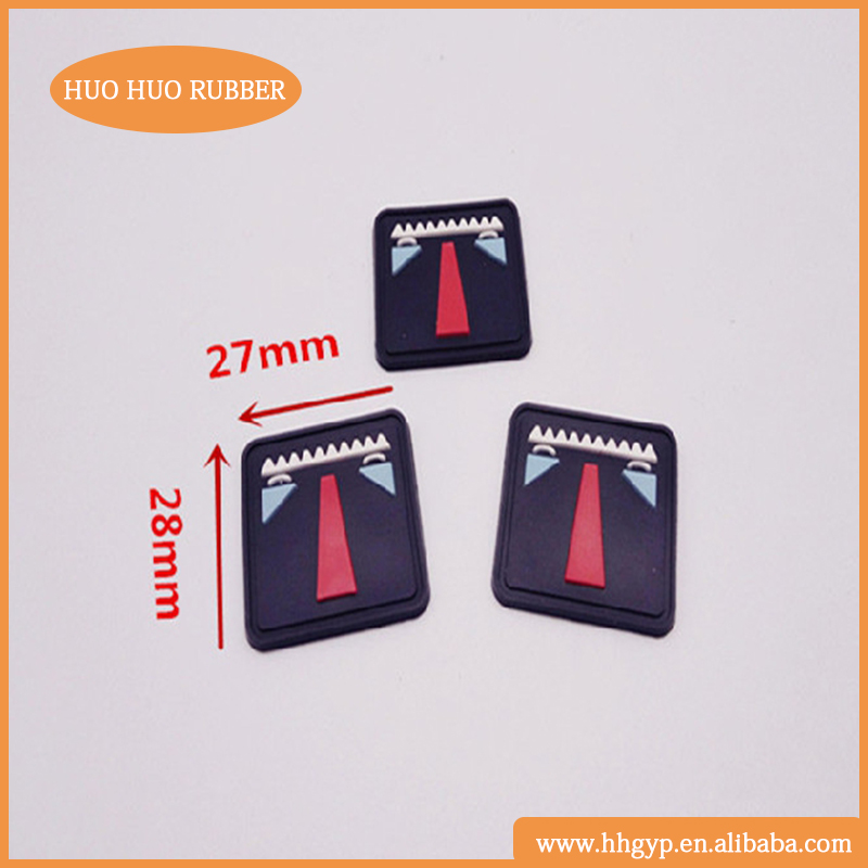 High Quality Customized Garment Labels 3D PVC Rubber Silicon Bag Label Patch
