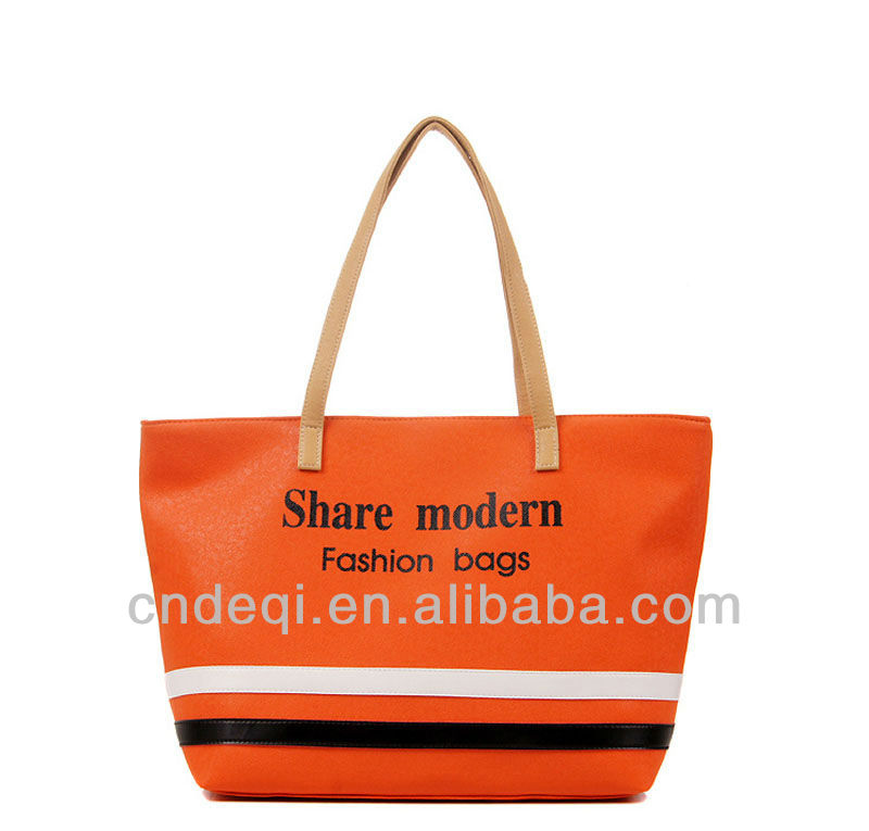 Imitation leather hand bag