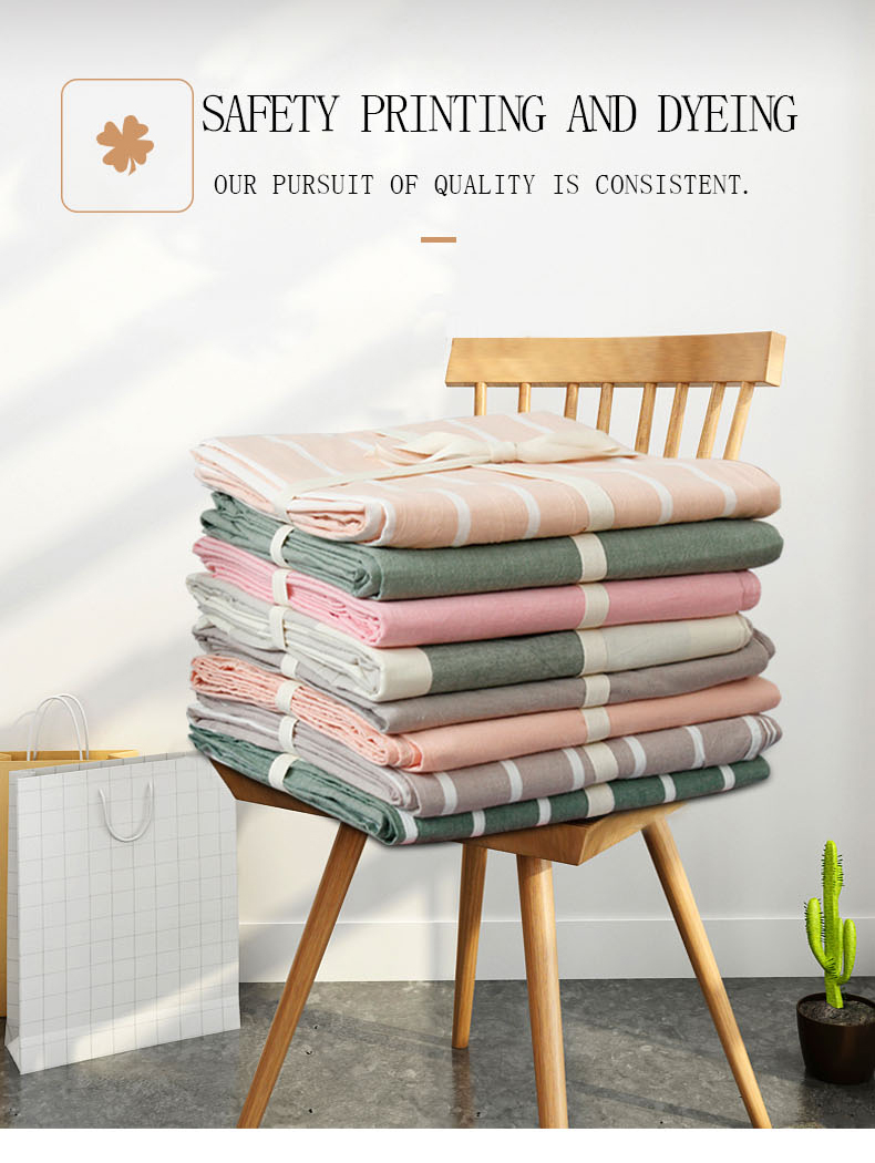 Washed pure cotton 100% cotton printed bedsheets/bulk flat sheets bed sheet set