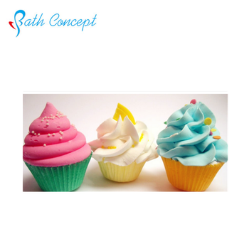 Private label natural fizzy cupcake bath bombs