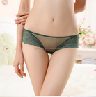 Gauze Nylon Hip-hugger Sexy Thong Womens Fashion hollow transparent breathable patchwork undergarment