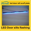High quality ! LED Light Car Accessories Flash Door Sills Moving Scuff Plate Light Panel