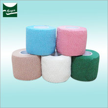 China high quality latex cotton cohesive self adhesive elastic tape