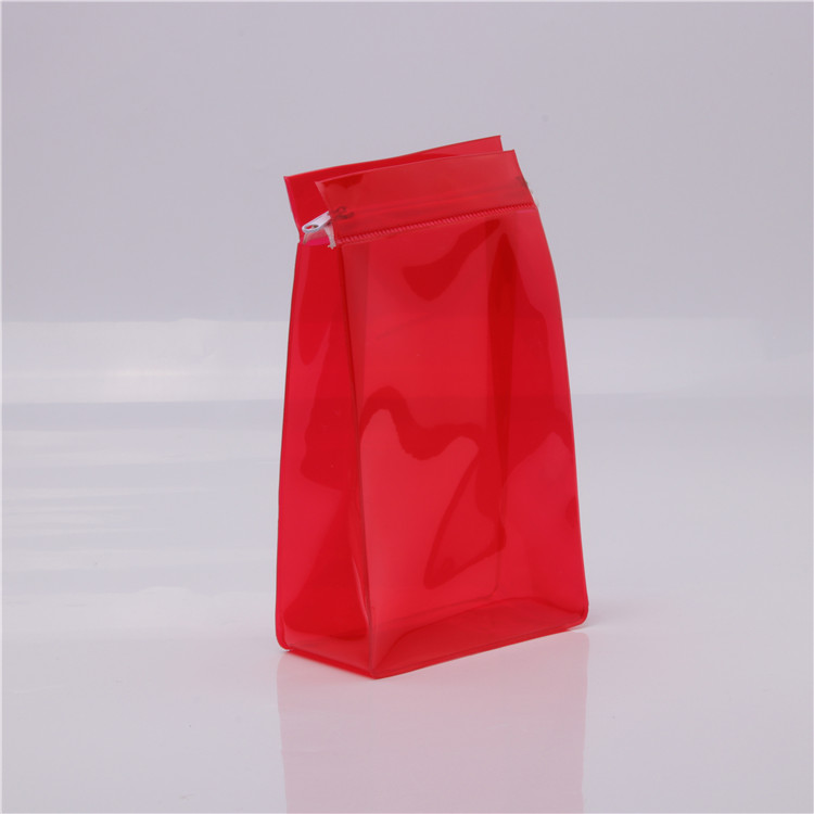 Quần áo bao bì rõ ràng nhựa pvc dây kéo thanh trượt túi