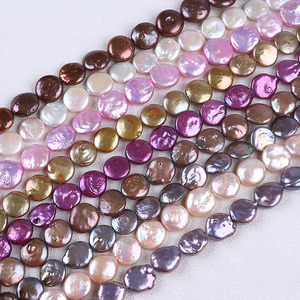 12-13mm colorful coin freshwater beads pearl for diy making