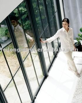 Grill Design Thermal Insulation Aluminum Sliding Glass Door With AS2047