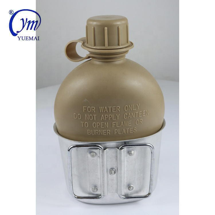 Military army tactical us khaki water bottle and aluminum cup