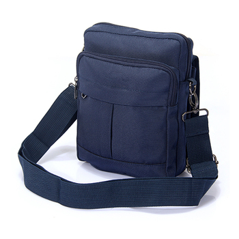 04f8fd0959 Embroidery men s single sling shoulder bag unisex casual messenger small  blank polyester crossbody bag for woman