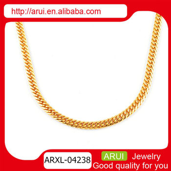Saudi gold set men fashion design simple gold chain necklace View