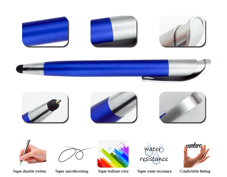 2018 New Short Size Plastic Touch Mobile Ballpoint Pen With Stylus