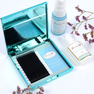 Premium synthetic trays mink lashes .23 luxury private label eyelash extension with your logo