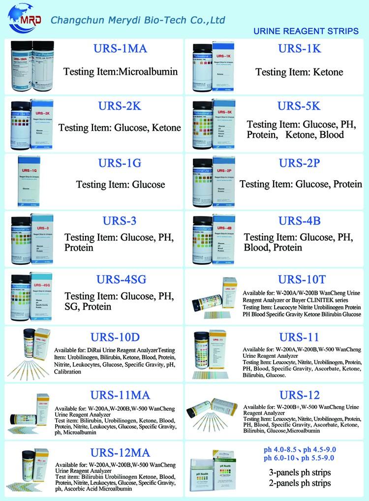 Heißer Verkauf 10 Parameter Urin Reagenz Teststreifen Für Blut Keton ...