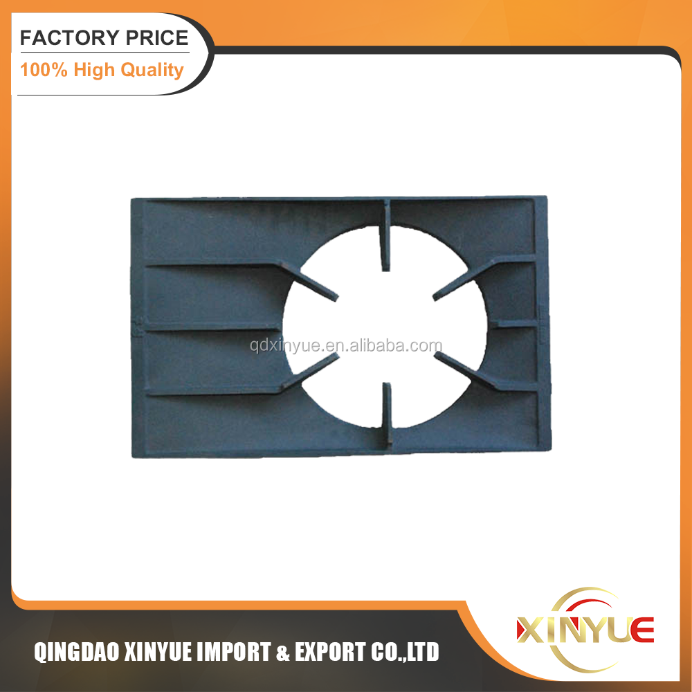 cast iron gas stove pan support outdoor cooking